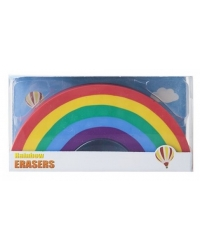 Image of 24 x Rainbow Erasers 11cm