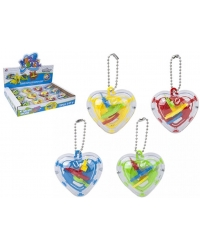 Image of 12 x 3D Ball Maze Puzzle Keyrings