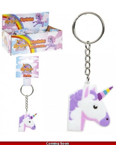 48 x Unicorn Silicone Keyrings