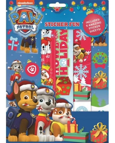 12 x Paw Patrol Christmas Sticker Fun Sets
