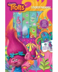 12 x Trolls Sticker Paradise Album & S..