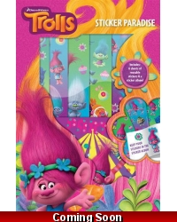 Image of 12 x Trolls Sticker Paradise Album & Stickers