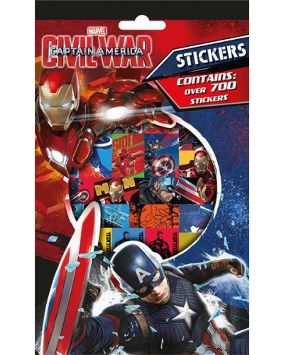 12 x Captain America 700 Stickers
