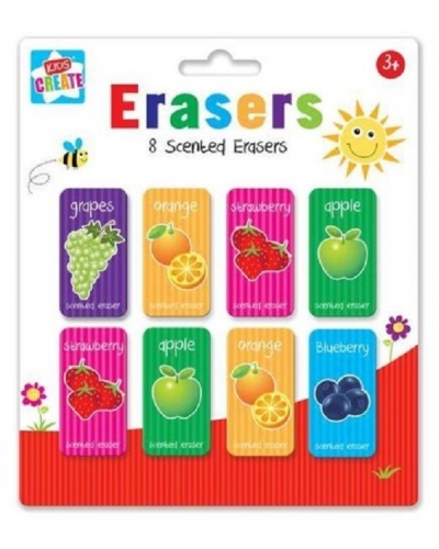 12 x Scented Erasers 8pk