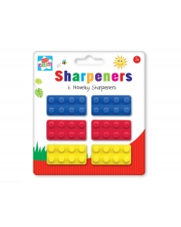 Image of 12 x Pencil Sharpeners 6pkBuilding Brick