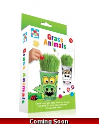 Image of 12 x Garden Grass Heads Animal Kits