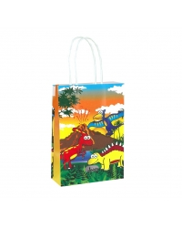 Image of 24 x Dinosaur Paper Party Bag W/Handles