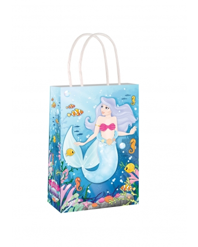 24 x Mermaid Paper Party Bag W/Handles