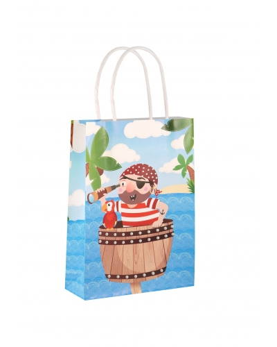 24 x Pirate Paper Party Bag W/Handles