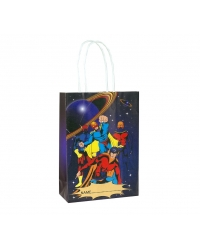 Image of 24 x Super Hero Paper Party Bag W/Handles