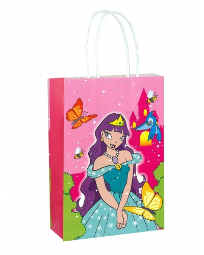 24 x Princess Paper Party Bag W/Handles