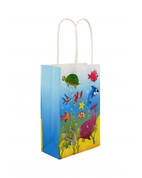 Image of 24 x Sealife Paper Party Bag W/Handles