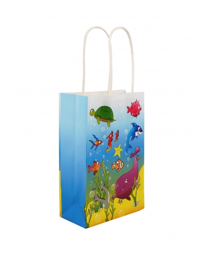 24 x Sealife Paper Party Bag W/Handles