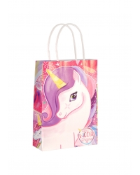 Image of 24 x Unicorn Paper Party Bag W/Handles