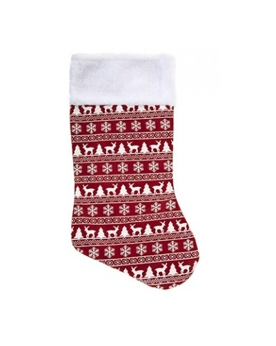 12 x Red Nordic Stocking 18""
