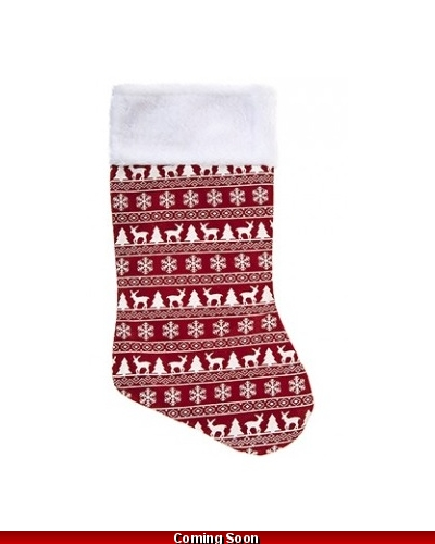 48 x Red Nordic Stocking 18""