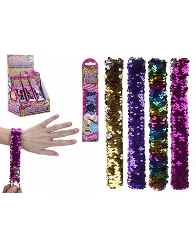 48 x Colour Change Sequin Snap Bracelets