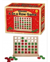 Image of 6 x Wooden 4 In A Line Games