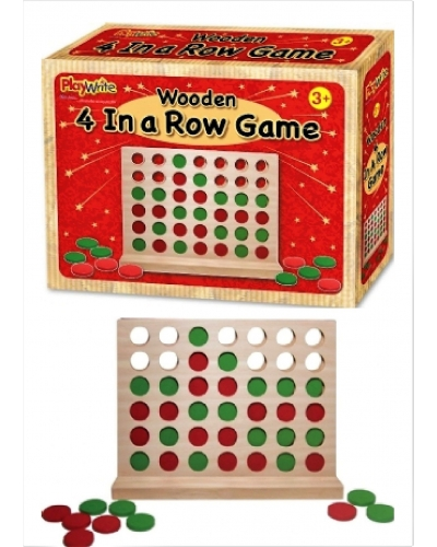 6 x Wooden 4 In A Line Games