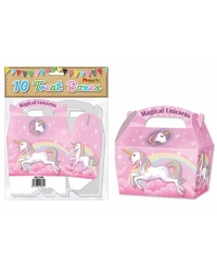 Image of 10 x Unicorn Party Treat Boxes 10 pk