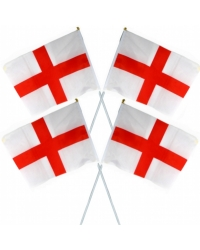 Image of 24 x Cloth England Flags 45x30cm