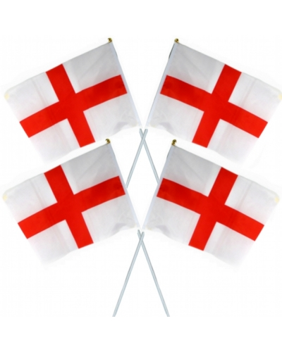 24 x Cloth England Flags 45x30cm