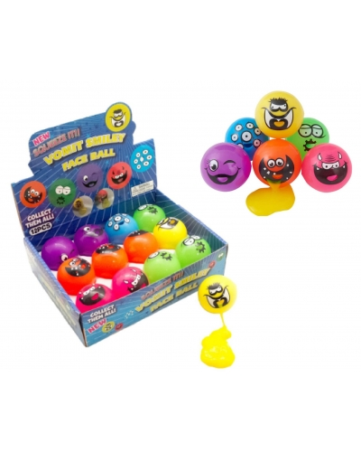 12 x Smiley Face Ball Slime Suckers
