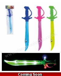 Image of 12 x Light Up Flashing Shark Swords