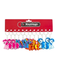 Image of 12 x Unicorn & Pony Keyrings