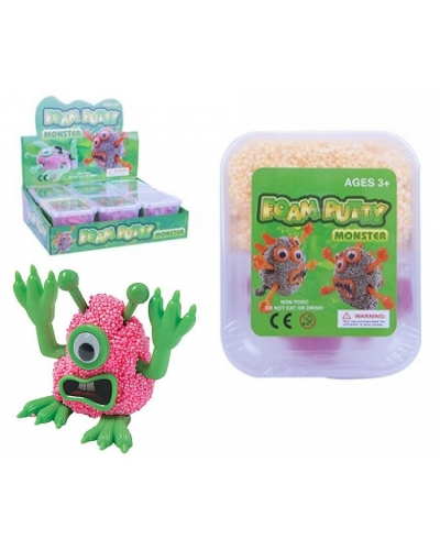 12 x Make A Monster Foam Putty Sets