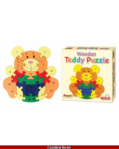 Wrapped Grotto Toys - Wooden Teddy Bear Puzzles x 6