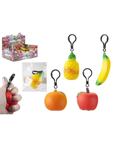 36 x Fruit Squigies On Key Clips