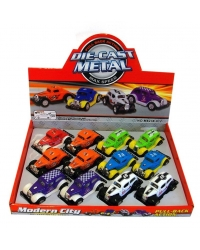 Image of 12 x Die Cast Hot Rod Cars 1:64