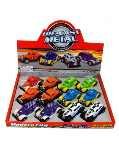 12 x Die Cast Hot Rod Cars 1:64