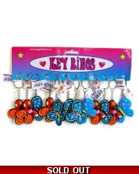 Image of 12 x Butterfly Keyrings