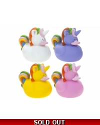 Image of 72 x Rainbow Unicorn Rubber Ducks