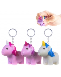 Image of 12 x Pooing Unicorn Glitter Keyrings