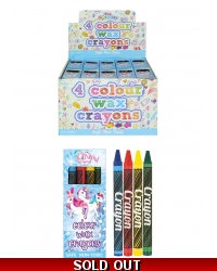 Image of 120 x Unicorn Wax Crayons 4 pack