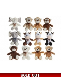 Image of 12 x Natural Supersoft Plush Animals 20cm