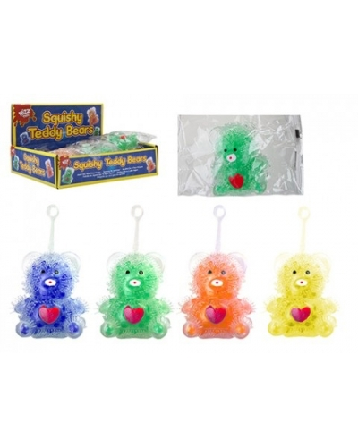 12 x Squishy Bead Teddy Bears