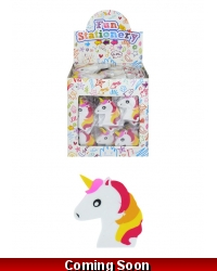 Image of 160 x Unicorn Erasers 6cm