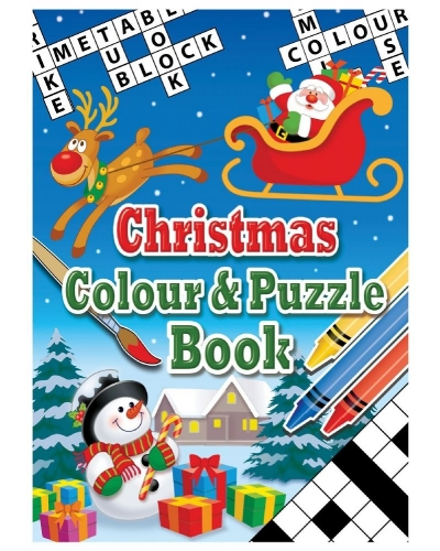 24 x Christmas A6 Colour & Puzzle Books