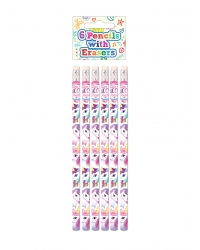 Image of 24 x Unicorn Pencils 6pk