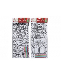 Image of 24 x Christmas Elf Velvet Colouring Pictures