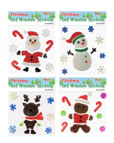 24 x Christmas Gel Window Stickers