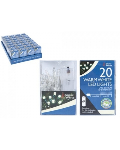 24 x Warm White LED Christmas Lights