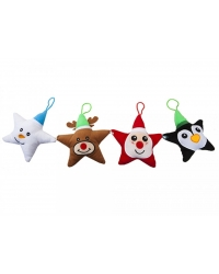 Image of 24 x Plush Christmas Stars 15cm