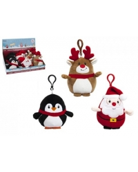 Image of 16 x Clip On Christmas Plush 10cm