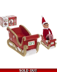 Image of Christmas Elf Polystone Sleigh