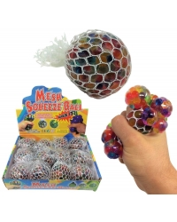 Image of 12 x Rainbow Squishy Bead Mesh Balls